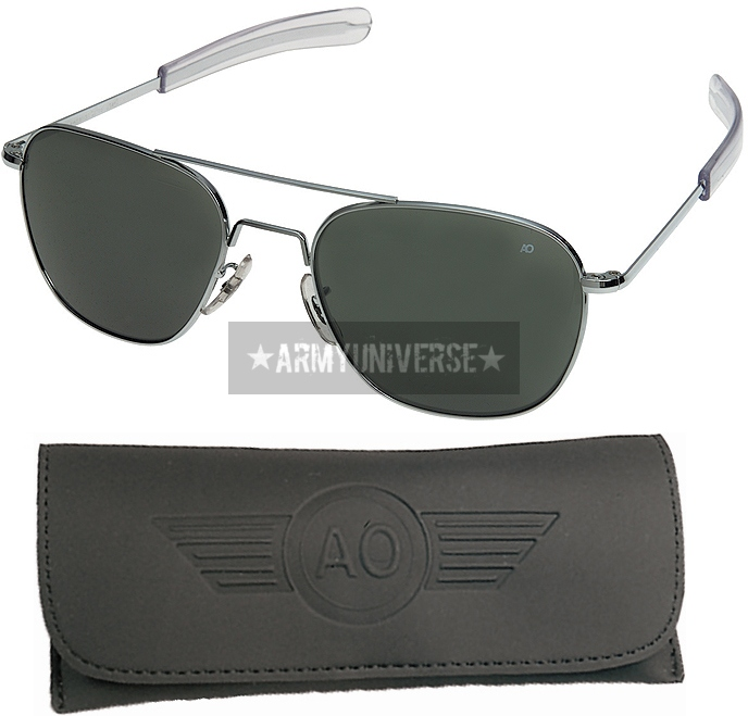 American Optics Aviator Sunglasses Air Force Style Grey Lenses With Case