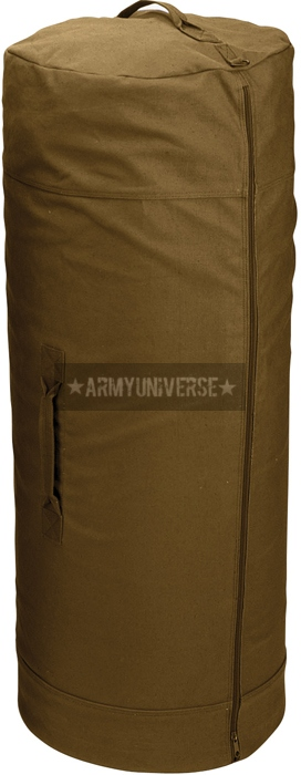Rothco Coyote Brown Side Zipper Canvas Military Duffle Bag 25