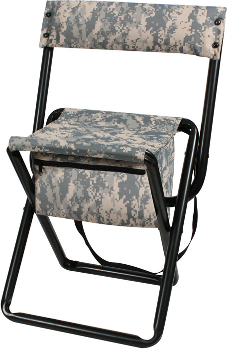 Acu Digital Camo Deluxe Portable Folding Chair Stool With