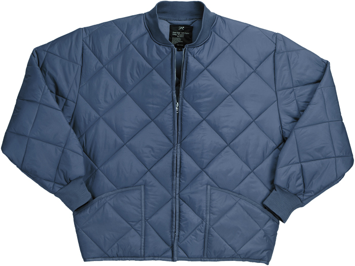 Classic Diamond Jacket Quilted Nylon Flight Military Coat ...