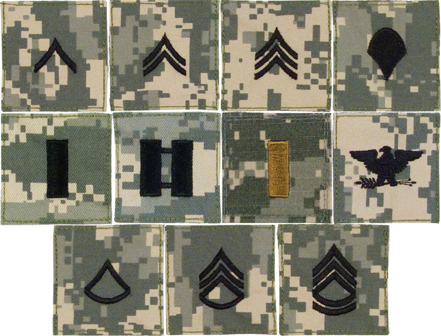Custom made military rank insignia patches