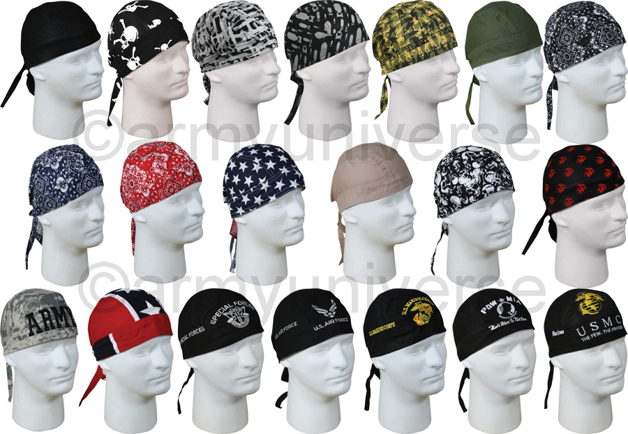 Military Biker Headwrap Cotton Do-Rag Bandanna