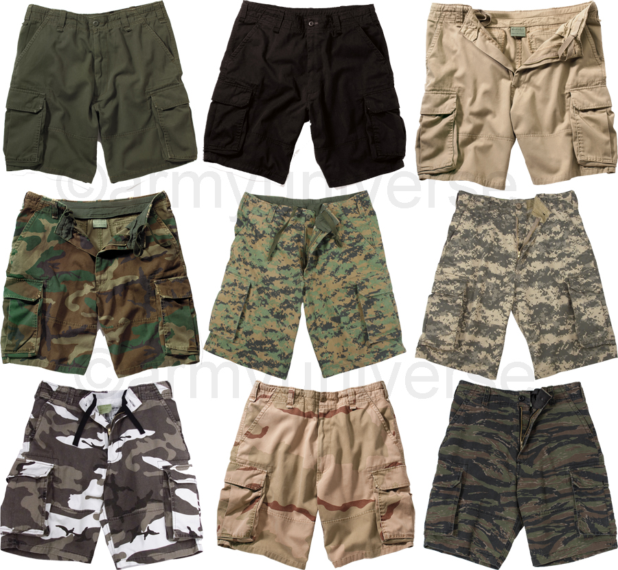 camouflage vintage military paratrooper tactical cargo shorts. Black Bedroom Furniture Sets. Home Design Ideas