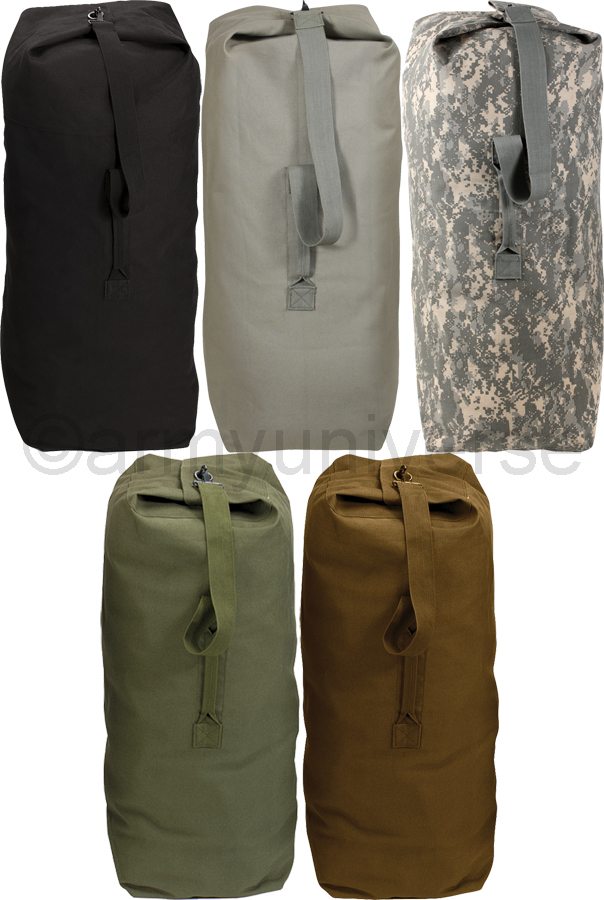 Top Load Duffle Bag Heavy Duty Canvas Travel Bag Backpack Carry ...