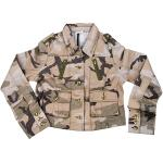 Subdued Woodland Camouflage Vintage Military Women's Jacket