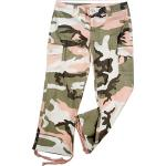 Subdued Pink Camouflage Vintage Capri Pants (Girls)