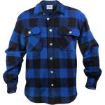 Blue Extra Heavyweight Brawny Buffalo Plaid Flannel Shirt
