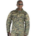 Woodland Digital Camouflage Combat Ready Tactical Military Uniform Shirt