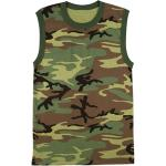 Woodland Camouflage Military Muscle Shirt