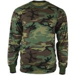 Woodland Camouflage Tactical Long Sleeve Military T-Shirt
