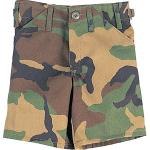 Woodland Camouflage Kids Cargo Military BDU Shorts