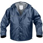 Navy Blue Nylon Severe Weather Water Resistant Hooded Storm Jacket