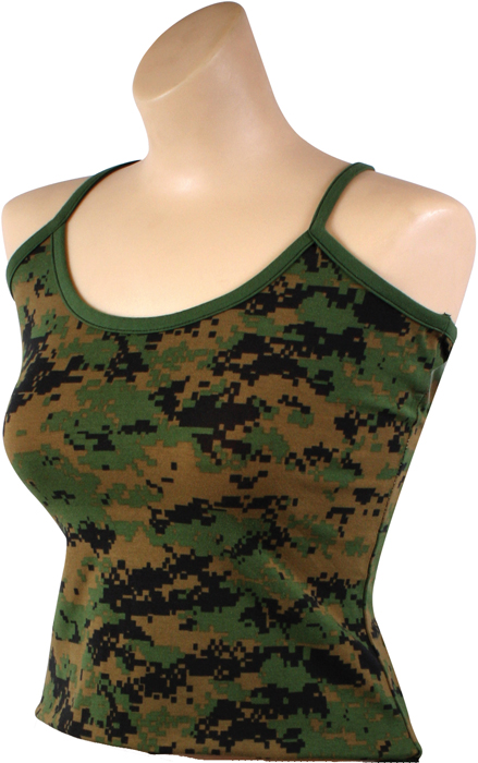 Rothco Woodland Camouflage Digital Casual Tank Top Womens