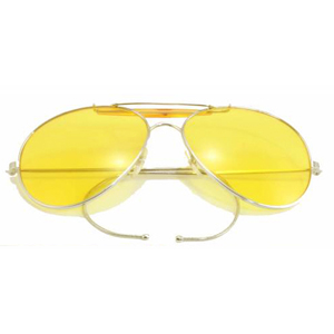Yellow Lenses Military Air Force Aviator Sunglasses