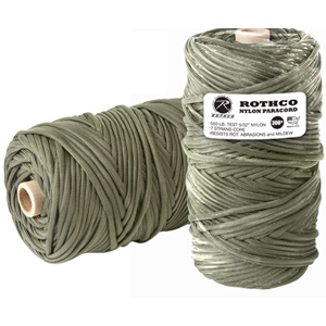 Olive Drab 550LB Type III Nylon Paracord Rope Tube 300'