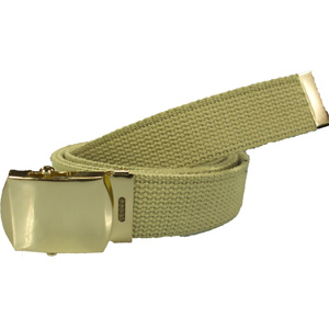 Khaki Military Web Belt (Brass Buckle)