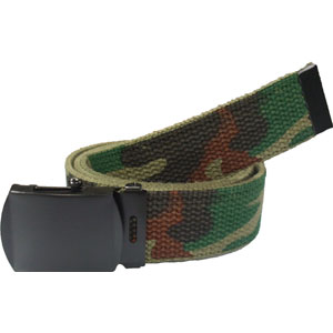 Woodland Camouflage Reversible Web Belt