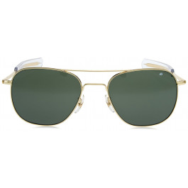 AO Eyewear Gold 55mm Genuine Air Force Pilots Green Lenses Sunglasses with  Case f660cc16492