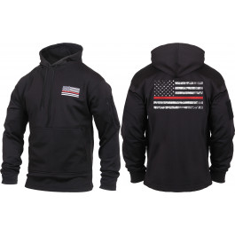 Black Concealed Carry Subdued Thin Red Line Hoodie Sweatshirt 3a3265d53