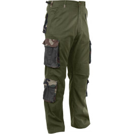 Olive Drab Vintage Military Paratrooper BDU Pants w  Woodland Camouflage  Accents df184196279