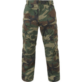Woodland Camouflage Vintage Military Paratrooper BDU Pants 14181bd7a3f