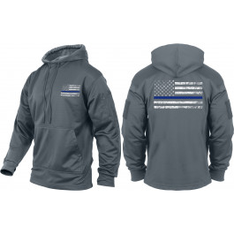 Grey Concealed Carry Subdued Thin Blue Line Hoodie Sweatshirt 4c24ccd3404