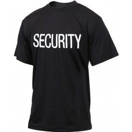 Black Quick Dry Moisture Wicking Security Performance T-Shirt 44ca371afc3