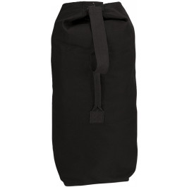 Black Extra Large Top Load Heavyweight Canvas Duffle Bag 25