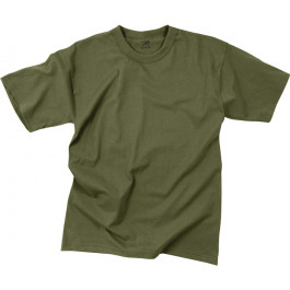 Olive Drab 100% Cotton Plain Solid Military T-Shirt 50044fc6df6