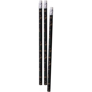 Woodland Camouflage Basswood Number Two Pencils 3 Pack