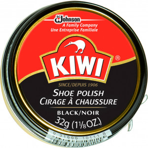Kiwi Black High Gloss Wax Shoe Polish 1 1/8 Oz.