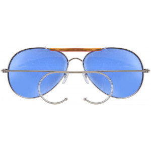 Blue Lenses Military Air Force Aviator Sunglasses ba6d9a470