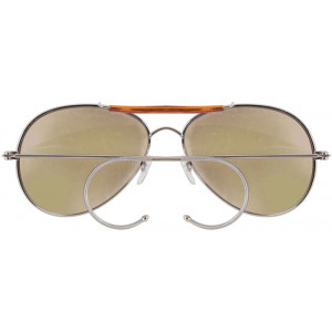 Brown Lenses Military Air Force Aviator Sunglasses