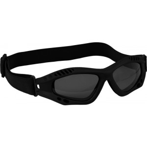 Black Vented Anti-Fog Enhanced Tactical Goggles