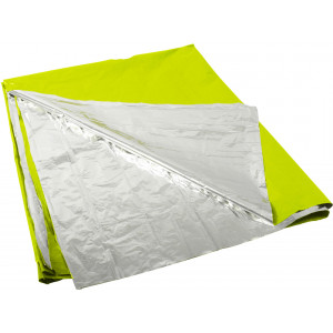 "Green & Silver Emergency Polarshield Survival Light Weight Reflective Mylar Blanket (82"" x 51"")"