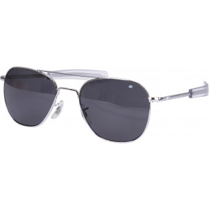 American Optics Chrome Polarized Genuine GI 55mm Air Force Pilots Sunglasses