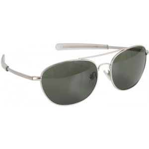 Matte Frame Military 58mm Pilots Aviator Sunglasses With Smoke Lenses