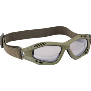 Olive Drab Vented Anti-Fog Enhanced Tactical Goggles