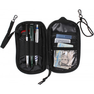 Black Multi Functional Tactical Polyester Wallet