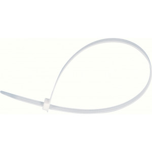 White Plastic Tactical Single Loop Disposable Plastic Restraints 10 Pack