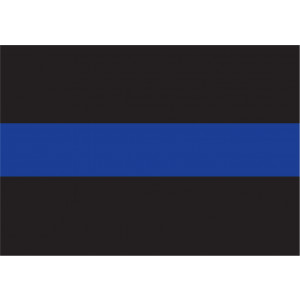 "Thin Blue Line Decal 3"" x 4 1/4"""
