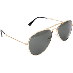 Gold   Smoke Folding US Air Force Style Aviator UV Sunglasses ... 5839532d36b