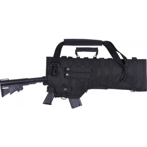 Black Tactical MOLLE Rifle Scabbard Soft Protective Case