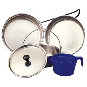 Stainless Steel Deluxe 5 Piece Military Mess Kit