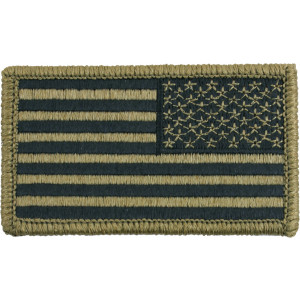 "OCP Regular American USA Flag Hook Patch 1 3/16"" x 3 1/4"""