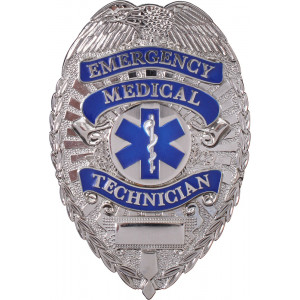 Silver Deluxe EMT Badge