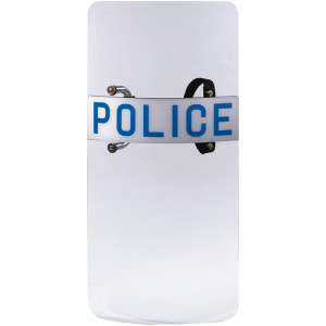 Clear Law Enforcement Protective Police Riot Shield with Handle