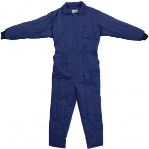 Navy Blue Cold Weather Insulated Coverall Jumpsuit