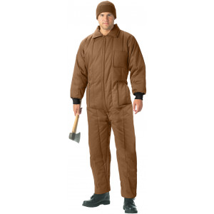 Coyote Brown Cold Weather Insulated Coverall Jumpsuit