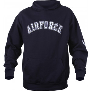 Navy Blue USAF Air Force Pullover Hooded Sweatshirt